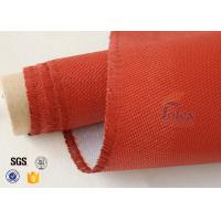 Wholesale 0.9mm Red Silicone Coated Fiberglass Fabric , Generator Thermal Insulation Materials from china suppliers