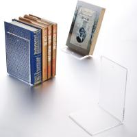 Wholesale Transparent Bookends / Books Acrylic Stands For Display Non - Toxic Many Colors from china suppliers