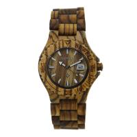 Wholesale Zebra Wood Wooden Wrist Watch Unisex , Wooden Mens Watch Magnet Clasp from china suppliers