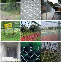 Quality 50mm PVC Coated Chain Link Fence Fabric for playground for sale