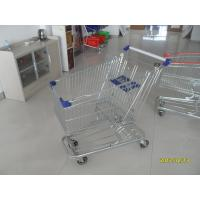 Wholesale 4 Swivel Flat Castors Supermarket Shopping Cart 100L With Colorful Plastics from china suppliers