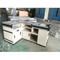 Wholesale Customized Retail Cashier Supermarket Checkout Counter With Powder Coated Finish from china suppliers