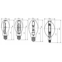 Wholesale ED28 400W Coated ANSI Standard Explosion-proof Metal Halide Lamp for Indoor and Outdoor from china suppliers