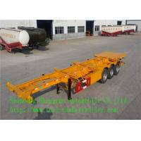 Wholesale Stainless Steel Container Skeleton Semi Trailer   , 3 Axles Semi Truck Trailers from china suppliers