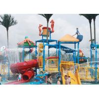 Wholesale Professional Kids Water Play Equipment Structures With Water Slide , Climb Net from china suppliers