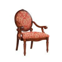 Wholesale Rustic Teal Upholstered Dining Chairs , Oak Patterned Dining Room Chairs from china suppliers