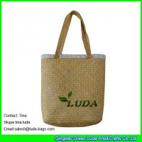 China LUDA wholesale cheap handbags  fashion seagrass straw beach mat bags on sale