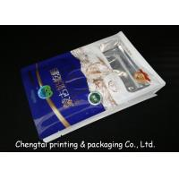Wholesale Gravure Half Side Aluminum Flat Bottom Plastic Bags Stand Up Pouches With Tear Notch from china suppliers