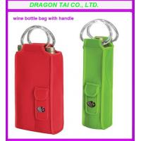 Wholesale Portable Wine bottle bag, cloth wine bottle with handle, customized wine bottle bag from china suppliers