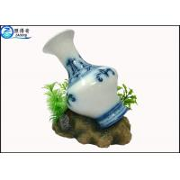 Wholesale Art Treasures China Vase Fish Aquarium Craft / Fish Tank Decorations With Resin Base from china suppliers
