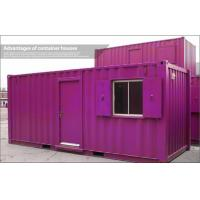 Wholesale Customized Red 20ft Shipping Container House For Living / Storage / Holiday Village from china suppliers