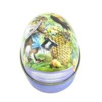 Quality Christmas egg shape candy metal tin wholesale/easter egg candy tin box for sale