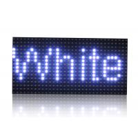 Wholesale White Color Led Moving Sign , 10mm LED Screen Modules Semi Outdoor from china suppliers