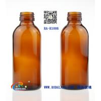 Quality 100ML amber glass bottle for syrup for sale