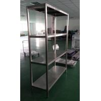 Wholesale Dismountable Kitchen Storage Stainless Steel Display Racks with 4 round tube legs from china suppliers