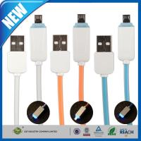 Wholesale LED Light Micro Cell Phone USB Cable Data Sync Charging Cord for Samsung S6 from china suppliers