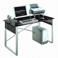 Wholesale Computer Desk with Tempered Glass Tabletop from china suppliers