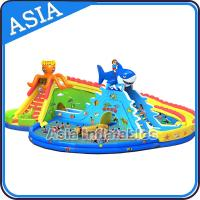 Wholesale Outdoor Inflate Amusement Water Park , Inflatable Water Park , Inflatable Ground Water Park from china suppliers