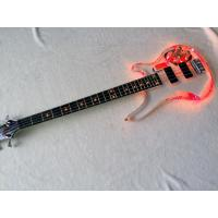 Quality Acrylic Clear Electric Bass Guitar With LED Light See-Thru Custom Made (4 Strings-Multicolor LED) for sale