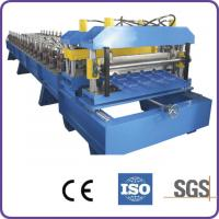 Wholesale Hydraulic Automatic Cutting 45# Forge Steel Roof Tile Roll Forming Machine from china suppliers