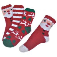 Wholesale Polyester plush therapy foot spa socks Christmas theme Winter from china suppliers