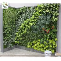 Wholesale UVG GRW021 Fake vertical garden in plastic artificial plants for indoor and outdoor wall decoration from china suppliers