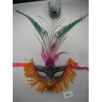 Wholesale Halloween Christmas Masquerade Venetian Party Painted Peacock Feather Mask from china suppliers