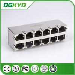 Quality Gigabit Ethernet Rj45 Connector 10/100BaseT 2X6 Side Entry RoHS SFP005-03-L for sale