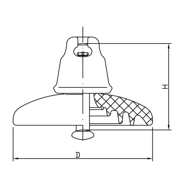 52-3 disc insulator drawing