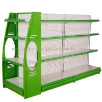 Wholesale Stores Supermarket Shelves Commercial Storage Rack Green / Grey / Orange / Pink / Blue from china suppliers