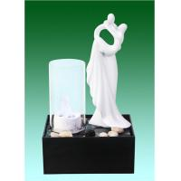 Quality White Contemporary Design Glossy Tabletop Water Fountain Desktop OEM Acceptable for sale