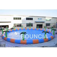 Wholesale Commercial 15m Diameter Round Inflatable Water Swimming Pools With Palm Tree from china suppliers