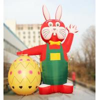 Wholesale Printing Outdoor 6m Decorative Red Inflatable Easter Rabbit with Egg for Easter from china suppliers