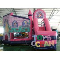 Wholesale Pink Princess Single Lane Inflatable Bounce House Slide Combo For Girls from china suppliers