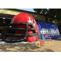 Wholesale Outdoor Advertising Blue N Red Inflatable Football Helmet Tunnel For Sport Event from china suppliers