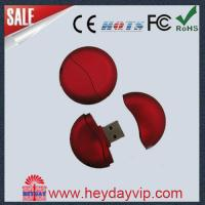 China Round 16GB Custom USB Thumb Drive on sale