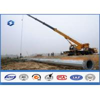 Quality Hot Dip Galvanized Power Transmission Poles / Power And Data Distribution Poles for sale
