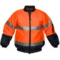 Wholesale Hi Vis Two Tone Safety Bomber Jacket with Reflective tape from china suppliers