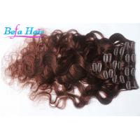 Wholesale Cherry Red / Burgundy Body Wave Remy Clip In Hair Extension 30 Inch For Women from china suppliers