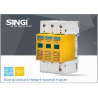 Wholesale 3 Pole Yellow Surge Protector Device , 1P , 2P , 3P , 4P lightning surge protector from china suppliers
