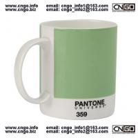 Wholesale Export PANTONE colors fashion cup 359.numbers love for the ceramic mug from china suppliers