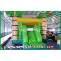 Wholesale Customize Coconut Tree Green Inflatable Bouncer House For Playing from china suppliers