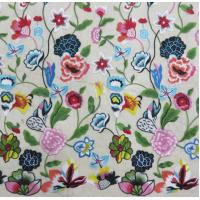 Wholesale Multi - Color Floral Embroidered Lace Fabric , Crochet Fashion Textiles from china suppliers