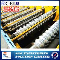 Wholesale Steel Structure Metal Deck Roll Forming Machine , Floor Decking Cold Roll Former Machinery from china suppliers
