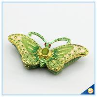 Wholesale Animal Shape Butterfly Trinket Box Metal Jewelry Box Car Decoration SCJ591 from china suppliers