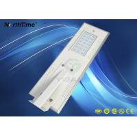 Quality Outdoor All In One Solar Street Light Aluminum Casing Lithium Iron Phosphate Battery for sale