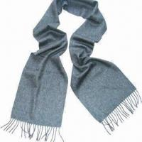 Wholesale 100% Cashmere Scarf, Measures 30x180cm, Soft, Warm and Comfortable, Solid Water-waving Pattern from china suppliers
