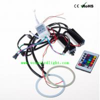 Wholesale Car RGB Halo Ring Flashing 90mm/140mm Multi-Color LED Angel Eyes With Remote Control from china suppliers