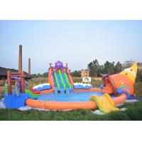 Wholesale Outdoor PVC Tarpaulin Inflatable Water Park Games On Land With 3 Slides from china suppliers