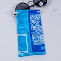 Wholesale Small Microfiber Drawstring Eyeglass Pouch , Cloth Sunglasses Pouch Carrying Bags from china suppliers